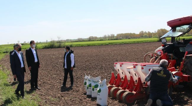 3 ton soya tohumu dağıtıldı