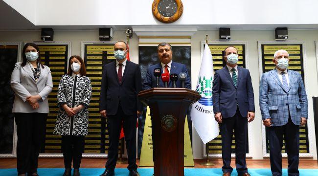 Edirne'de vaka sayıları yüzde 50 düştü