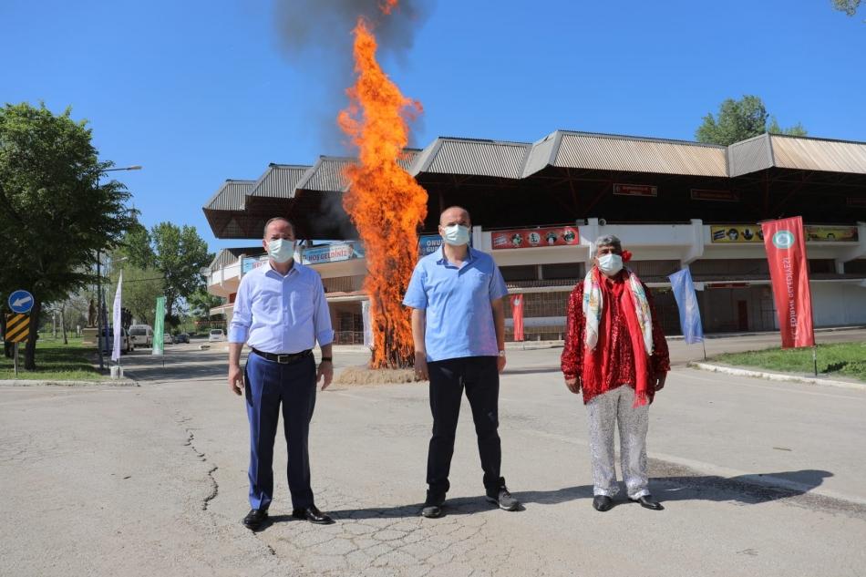 Kakava ateşi bu yıl da sembolik olarak yandı