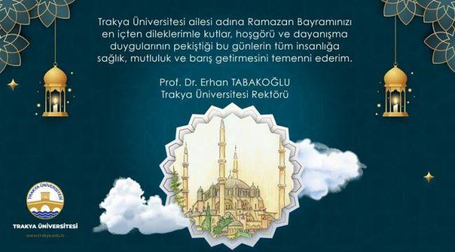 Tabakoğlu'ndan bayram mesajı