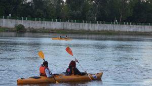 Meriç nehrinde kano turu