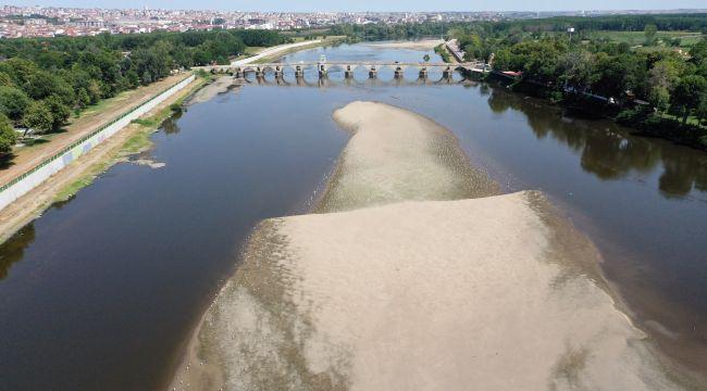 Meriç ve Tunca nehirlerinin su seviyeleri dip yaptı
