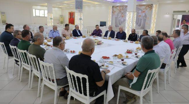 Gürkan sanayi sitesi esnafı ile buluştu