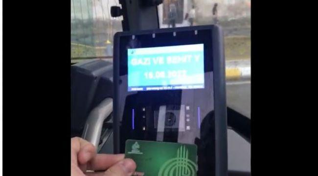 Otobüste gururlandıran anons